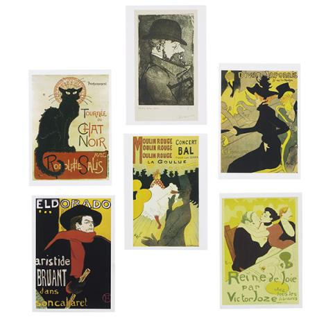 Pin-Ups | Toulouse-Lautrec and the Art of Celebrity exhibition postcards (6)