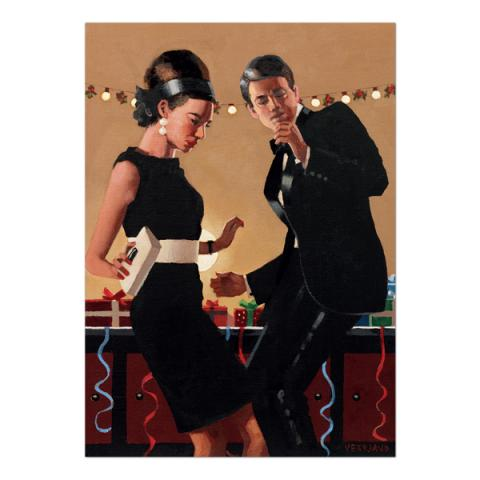 Let's twist again by Jack Vettriano Christmas card pack (10 cards)