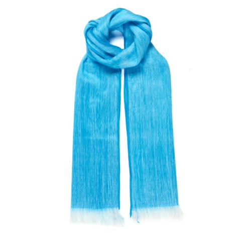 Light Blue Alpaca Scarf