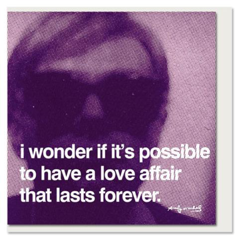 Love Affair Andy Warhol Greeting Card