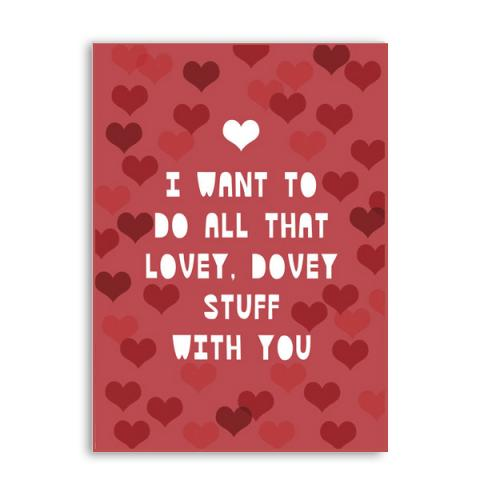 Lovey Dovey Valentine's greetings card