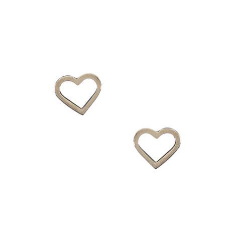 Eternity heart silver stud earrings