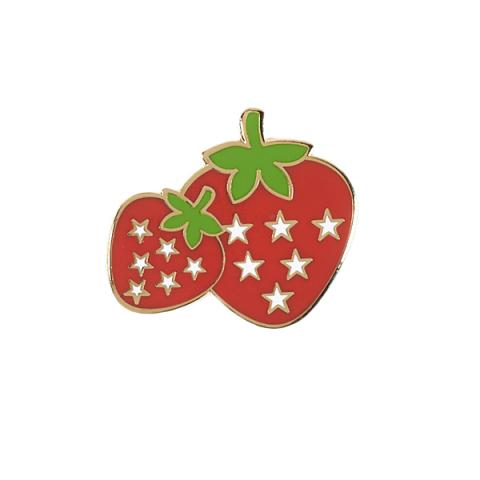 Acorn & Will Strawberry Enamel Pin