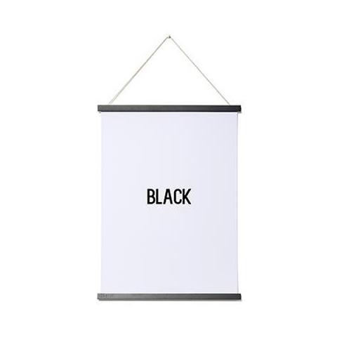Magnetic wooden poster hanger (Black A2)