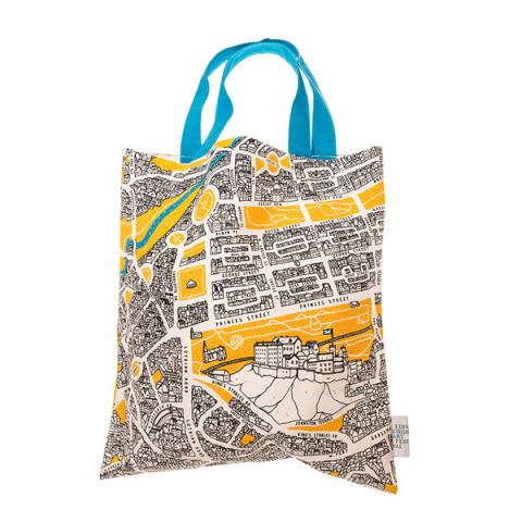 Map of Edinburgh by David Galletly tote bag