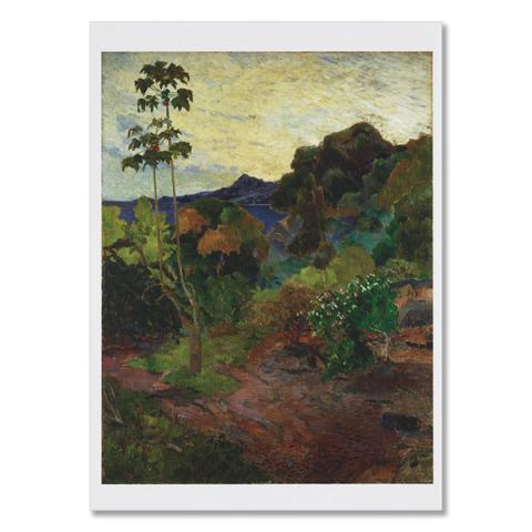 Martinique Landscape by Paul Gauguin greeting card