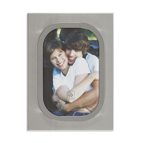 Matt silver and chrome plated picture frame