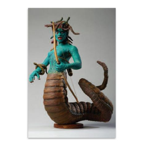 Medusa model from Clash of the Titans A6 postcard
