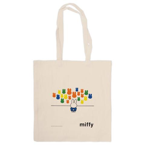 Miffy at the art gallery cotton tote bag