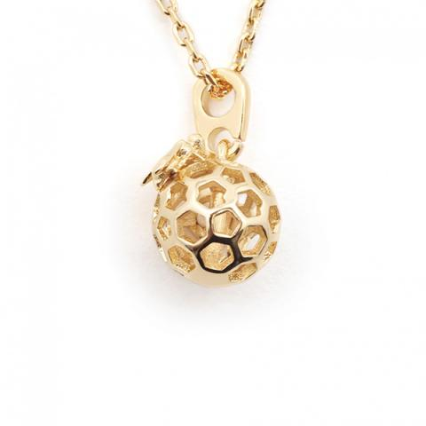 Mini bee & honeycomb orb necklace