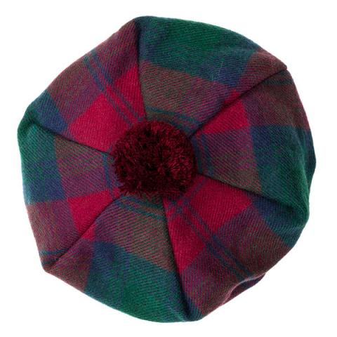 Modern Lindsey red and green tartan wool tam hat