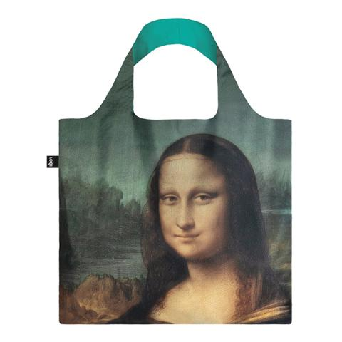 Mona Lisa reusable water-resistant carrier bag