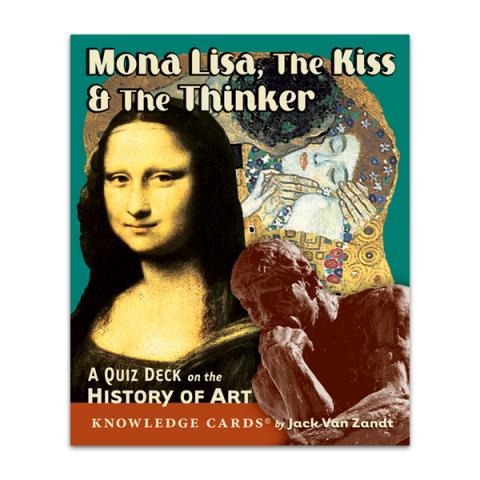 Mona Lisa, The Kiss & The Thinker: Art History quiz deck cards