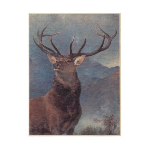Monarch of the Glen by Sir Edwin Landseer wooden print