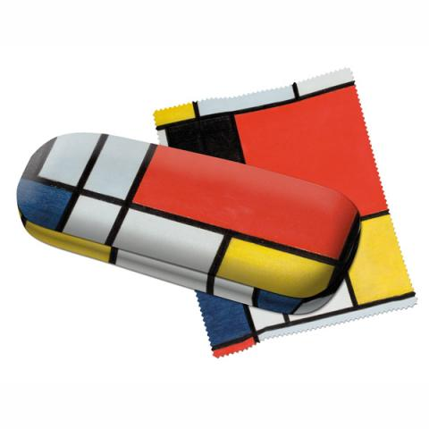 Composition Piet Mondrian Glasses Case With Lens Cloth