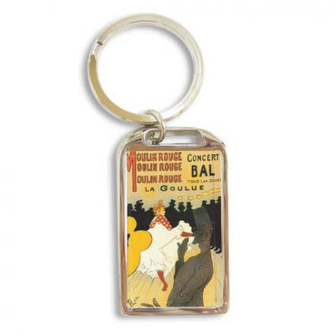 Moulin Rouge La Goulue by Henri Toulouse-Lautrec metal keyring