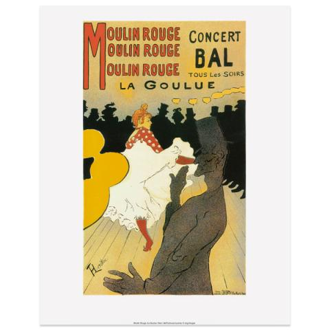 Moulin Rouge La Goulue by Toulouse-Lautrec art print
