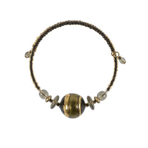 Murano Glass Berenice Black Bracelet