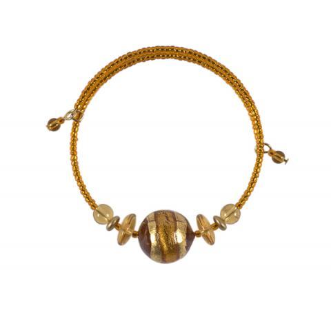 Murano Glass Berenice Gold Bracelet