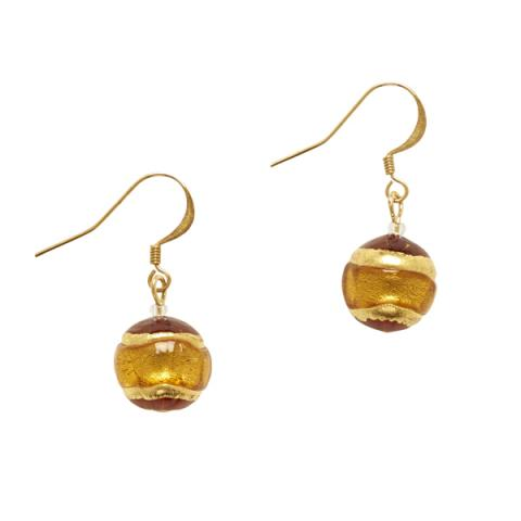 Murano Glass Berenice Gold Drop Earrings