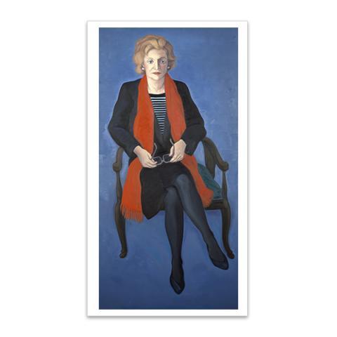 Dame Muriel Spark, (1918 - 2006) Writer by Alexander Moffat large postcard