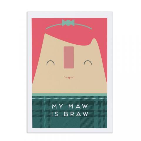 My Maw is braw greeting card