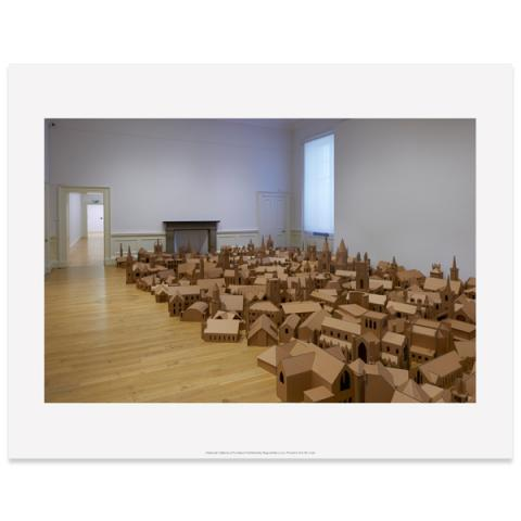 The Lamp of Sacrifice Nathan Coley Art Print (Room View 2)