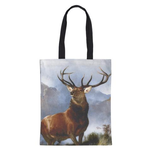 Monarch of the Glen by Sir Edwin Landseer reusable canvas tote bag