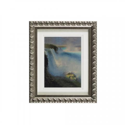 Niagara Falls ready to hang silver ornate framed print