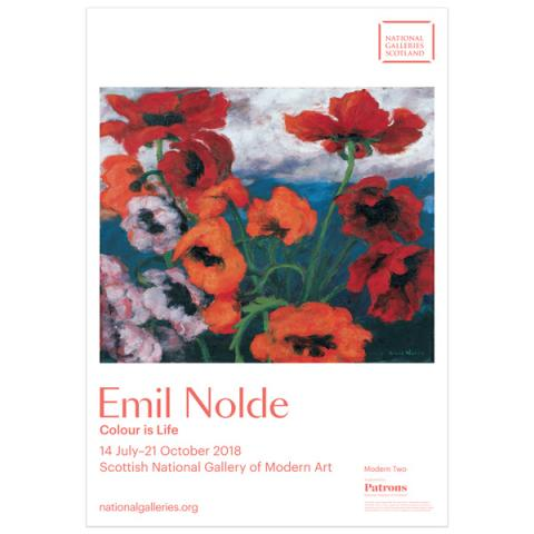 Colour Is Life Emil Nolde Exhibition Poster