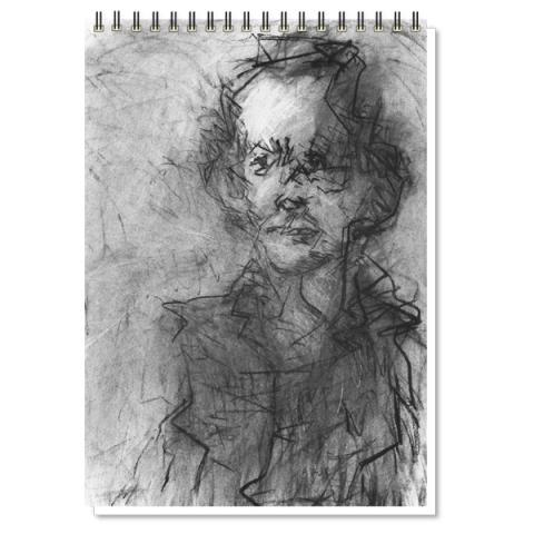 Norman McBeath I by Audrey Grant A3 sketchpad
