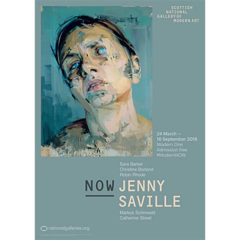 NOW III Jenny Saville Exhibition Poster