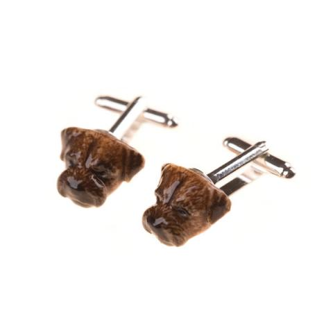 And Mary Border Terrier Cufflinks