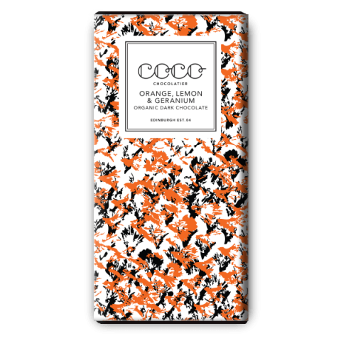 Coco Chocolatier Orange Lemon & Geranium Dark Chocolate