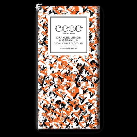 Coco Chocolatier Orange Lemon & Geranium Dark Chocolate
