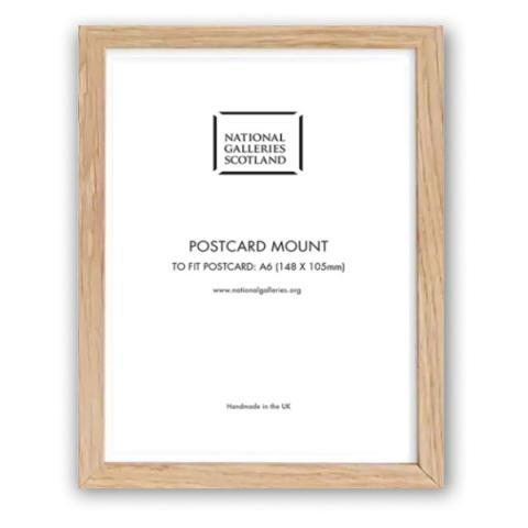 Solid oak A6 postcard picture frame