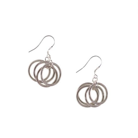 Odessa silver hoops earrings