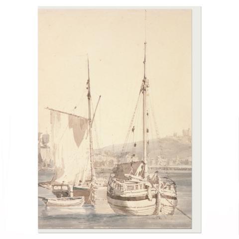 Old Dover Harbour JMW Turner Greeting Card