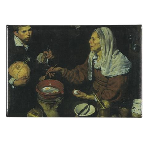 An Old Woman Cooking Eggs Diego Velazquez Magnet