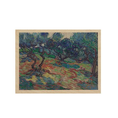 Olive trees by Vincent van Gogh wooden print