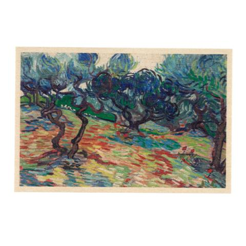 Olive Trees by Vincent van Gogh wooden postcard
