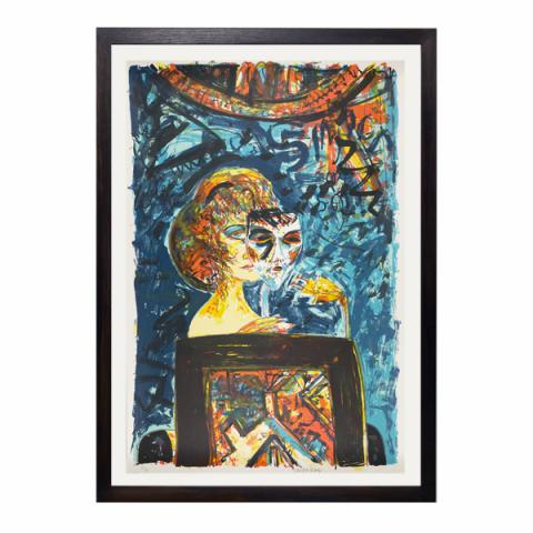 One Singer One Song by John Bellany limited edition screenprint