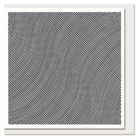 Over by Bridget Riley greeting card