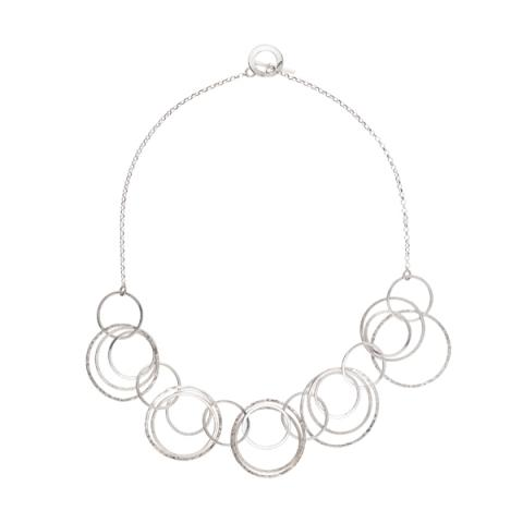 Oxygen rings silver necklace