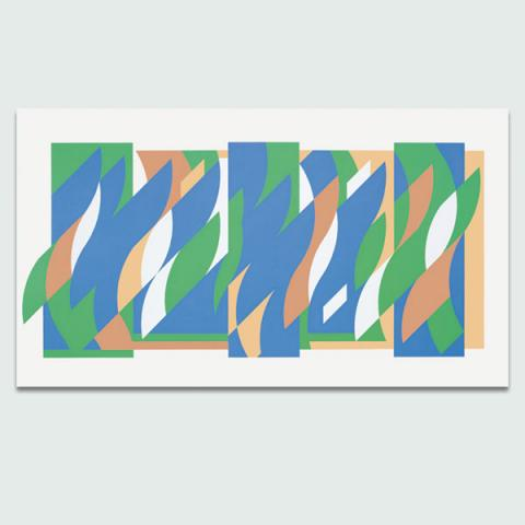 After Wall Painting (Arcadia 3), 2010 by Bridget Riley Limited Edition Print
