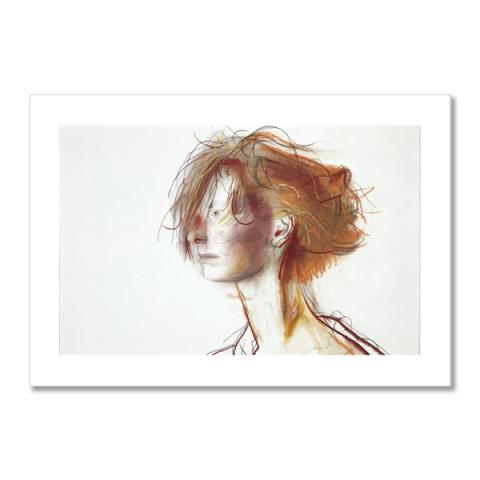 Tilda Swinton by John Byrne A6 postcard