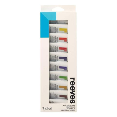 Pack of twelve watercolour paint tubes (10ml)
