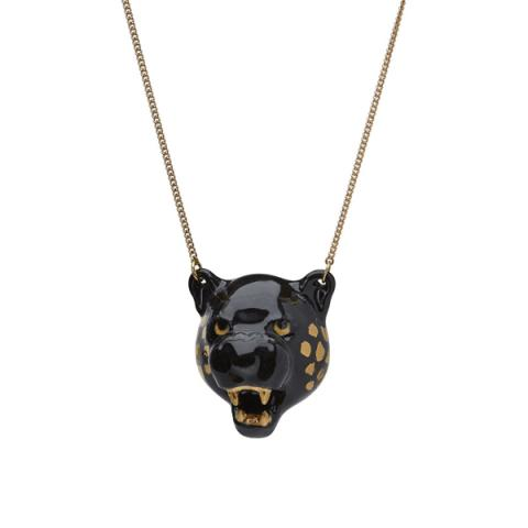 And Mary Black Panther Head Necklace