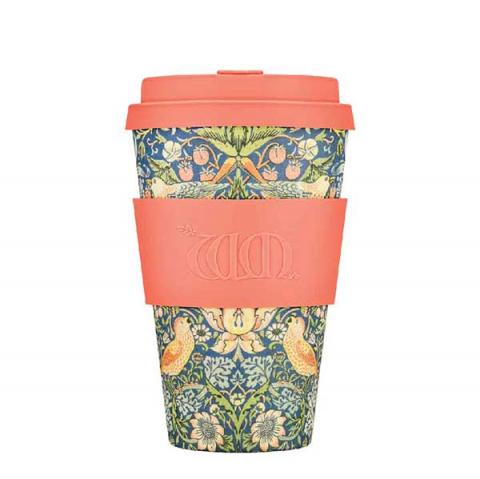 Strawberry thief by William Morris reusable 400 ml | 14oz cup