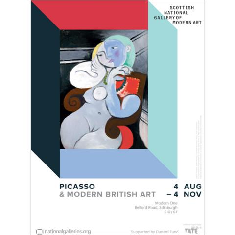 Picasso & Modern British Art exhibition poster